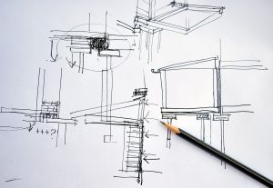 architetto a firenze schizzo progetto